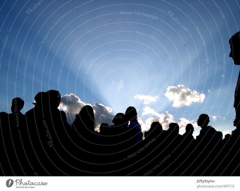 Sundown on Southside Mensch Himmel Wolken Freiheit Menschengruppe Glück Schatten Musikfestival