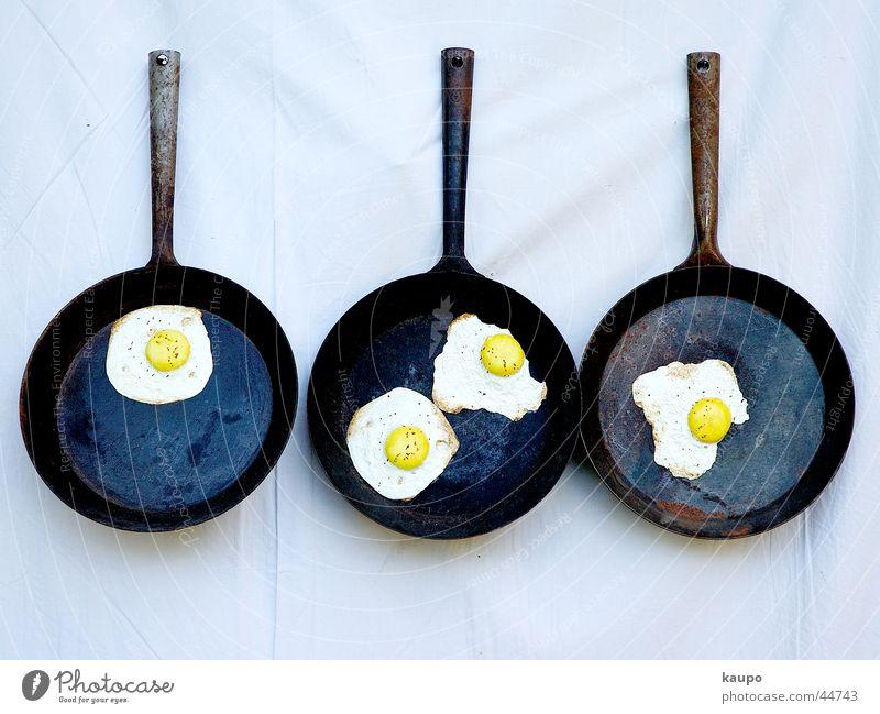 Bratpfannen Spiegelei Ernährung Ei gebratet