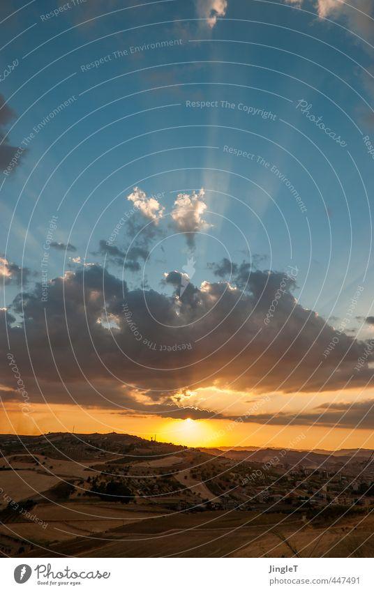 Lichtschicht Ferien & Urlaub & Reisen Tourismus Ferne Freiheit Sommer Sommerurlaub Sonne Umwelt Natur Landschaft Pflanze Tier Himmel Wolken Sonnenaufgang