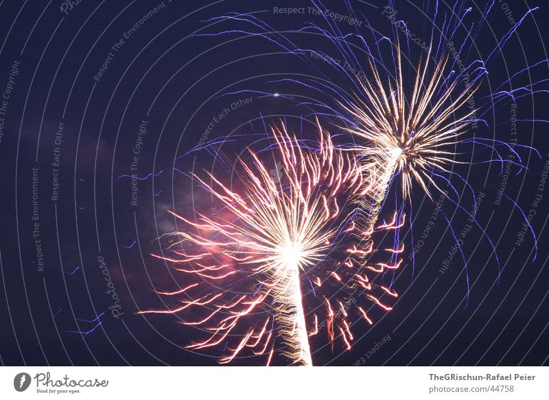 714 Jahre Schweiz GOTT SEI DANK Feste & Feiern Feuerwerk historisch Independence Day