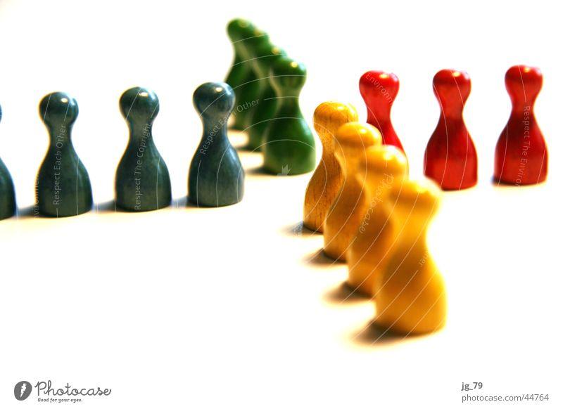 X-Holzköppe Mensch ärgere dich nicht Spielfigur Brettspiel Gesellschaftsspiele mehrfarbig gelb grün rot Versammlung Treffpunkt Freizeit & Hobby Farbe blau
