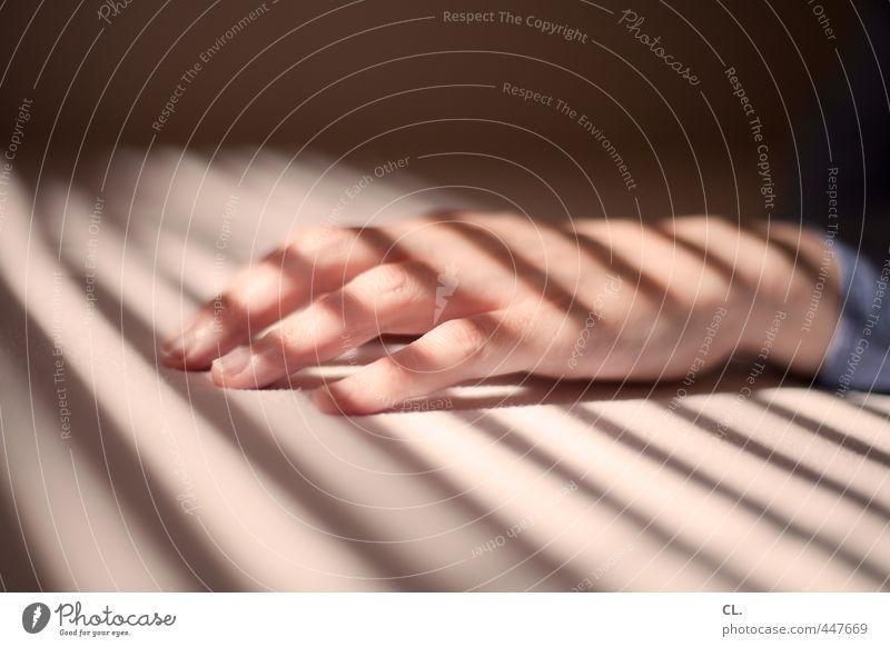 hand Mensch Frau Jugendliche schön Hand ruhig 18-30 Jahre Erwachsene feminin Wohnung Haut Häusliches Leben ästhetisch Finger Warmherzigkeit Streifen