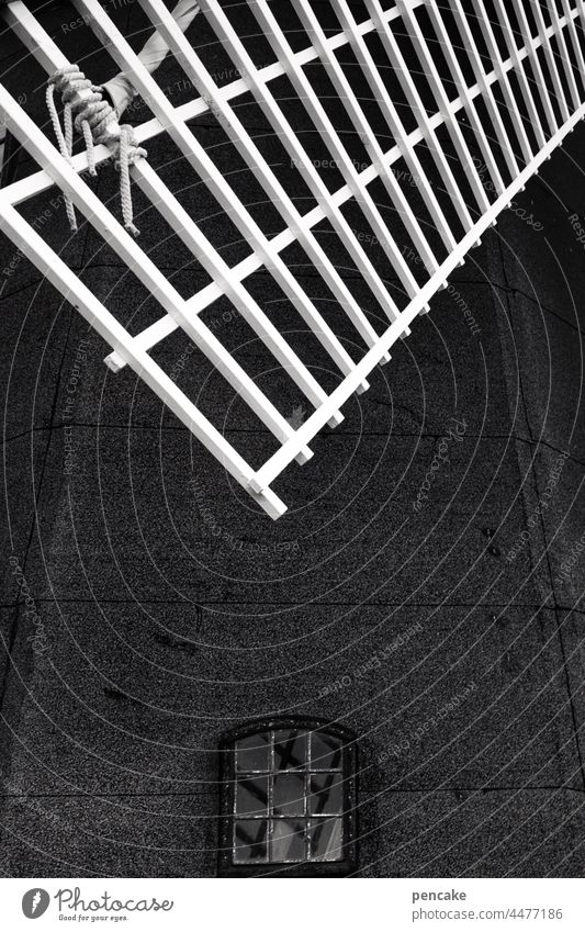 konstruktiv | windkraft Windmühle Detail historisch Windmühlenflügel Windkraft alt Vergangenheit gestern Zukunft Energiewende Mühle Bauwerk Sehenswürdigkeit