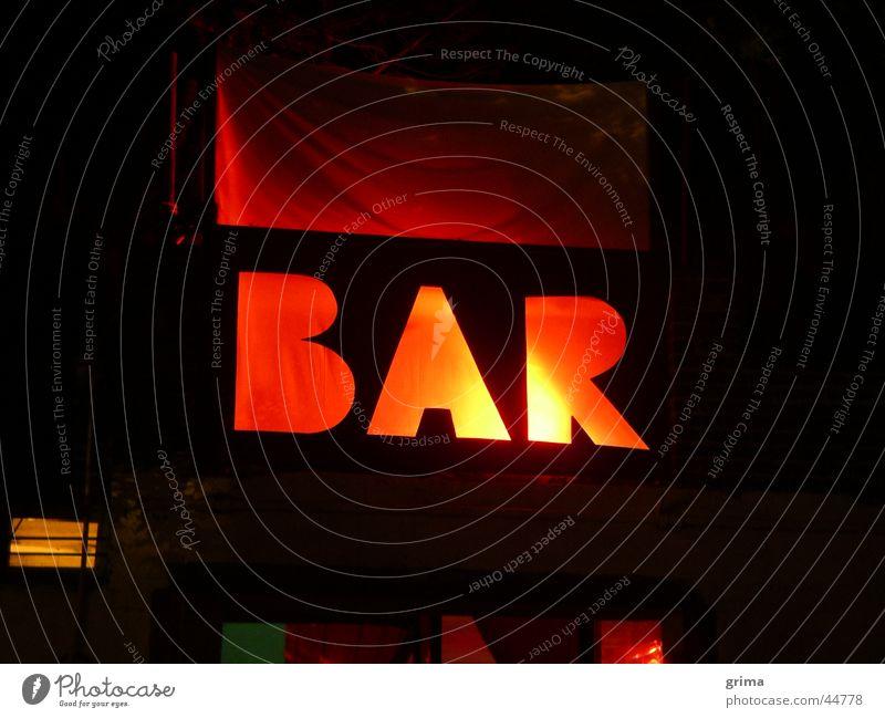 Red Bar Leuchtreklame Eingang rot Club Feste & Feiern Schilder & Markierungen