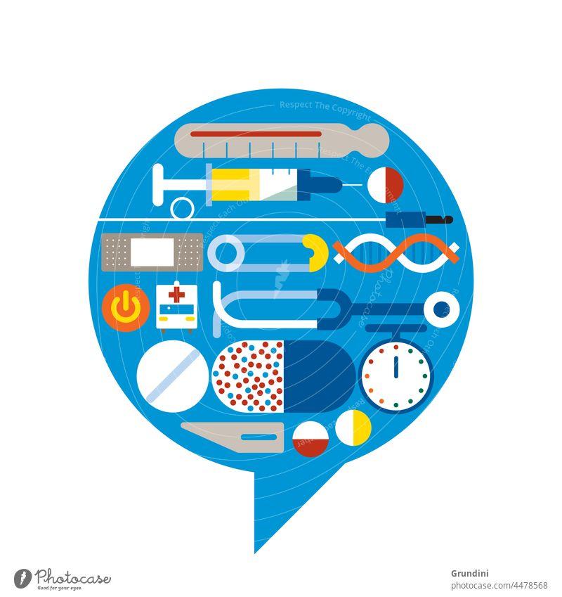 Medizinische Sprechblase medizinisch Gesundheit Krankenhaus Grafik u. Illustration Gesundheitswesen Praxis Pharma Apotheke medizinische Ausrüstung