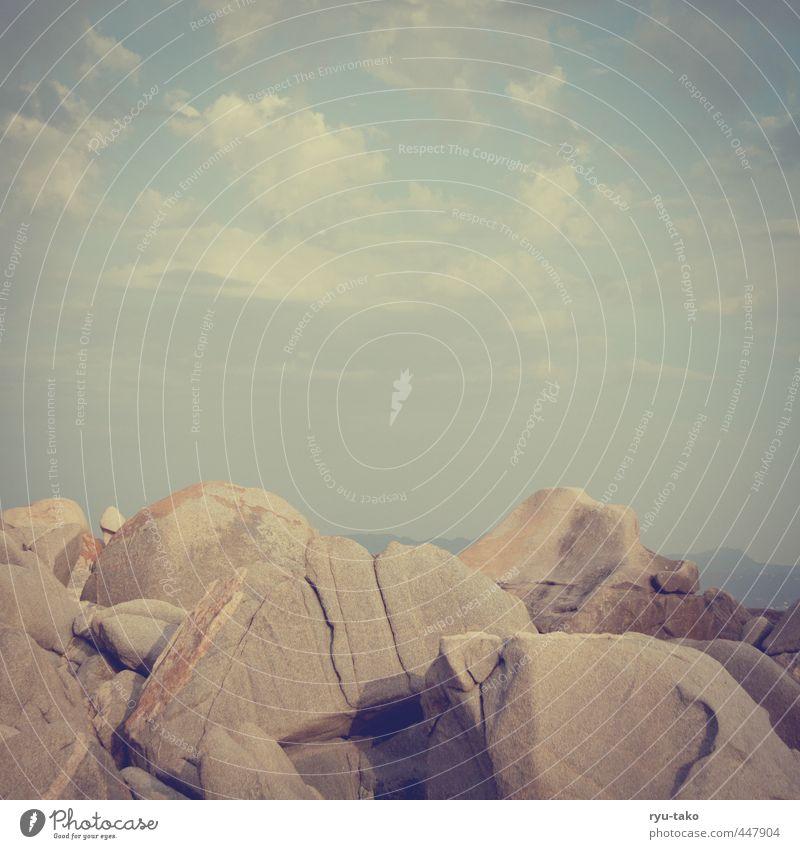 steinige angelegenheit schön ruhig Wolken Wärme Stein Felsen ästhetisch genießen gigantisch