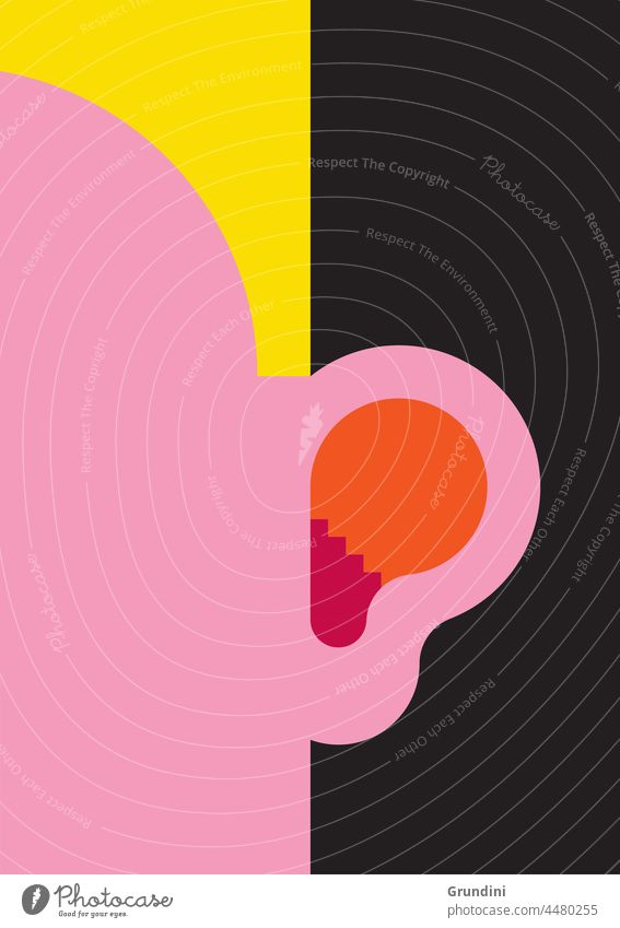 Besser hören Grafik u. Illustration Lifestyle Ohr Freitreppe Gesicht