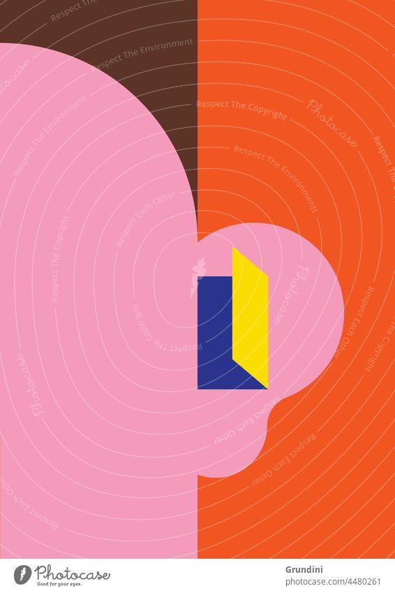 Besser hören 2 Grafik u. Illustration Lifestyle Ohr Gesicht Tür