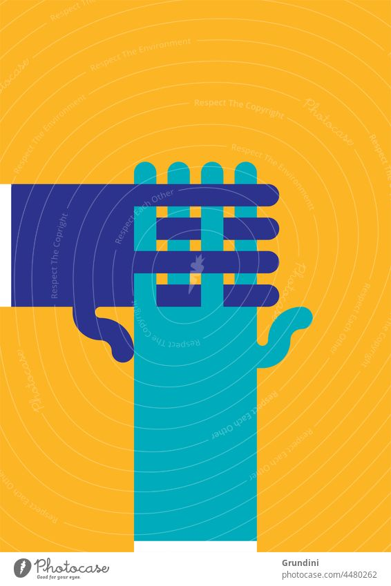 Verbindungen Grafik u. Illustration Lifestyle Hände Hände schütteln Grüße