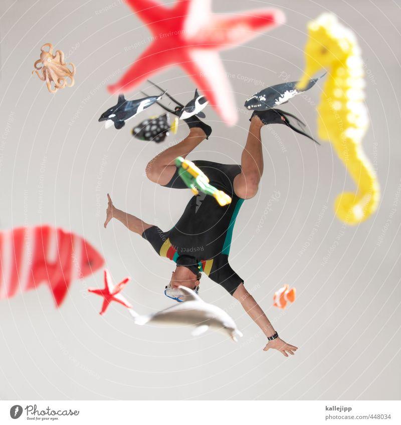 wasserspiele Lifestyle Freizeit & Hobby Sport Fitness Sport-Training Wassersport tauchen Mensch maskulin Mann Erwachsene Körper Arme Beine 1 30-45 Jahre Umwelt
