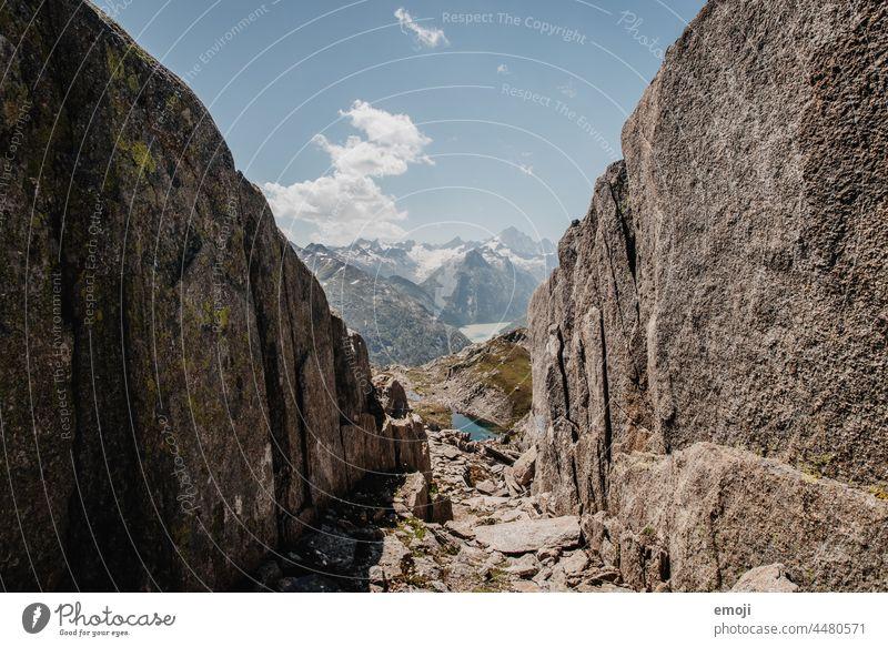 Grimselpass, Natur, Schweiz wandern tourismus alpen wanderung schönes wetter sommer blauer himmel Berge u. Gebirge felsen bergsee Ausflug
