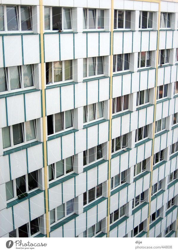 Studentenwohnheim weiß Haus Fenster Raum Architektur Wohnung Studium Aussicht Häusliches Leben Chemnitz Wohnheim Renoviert