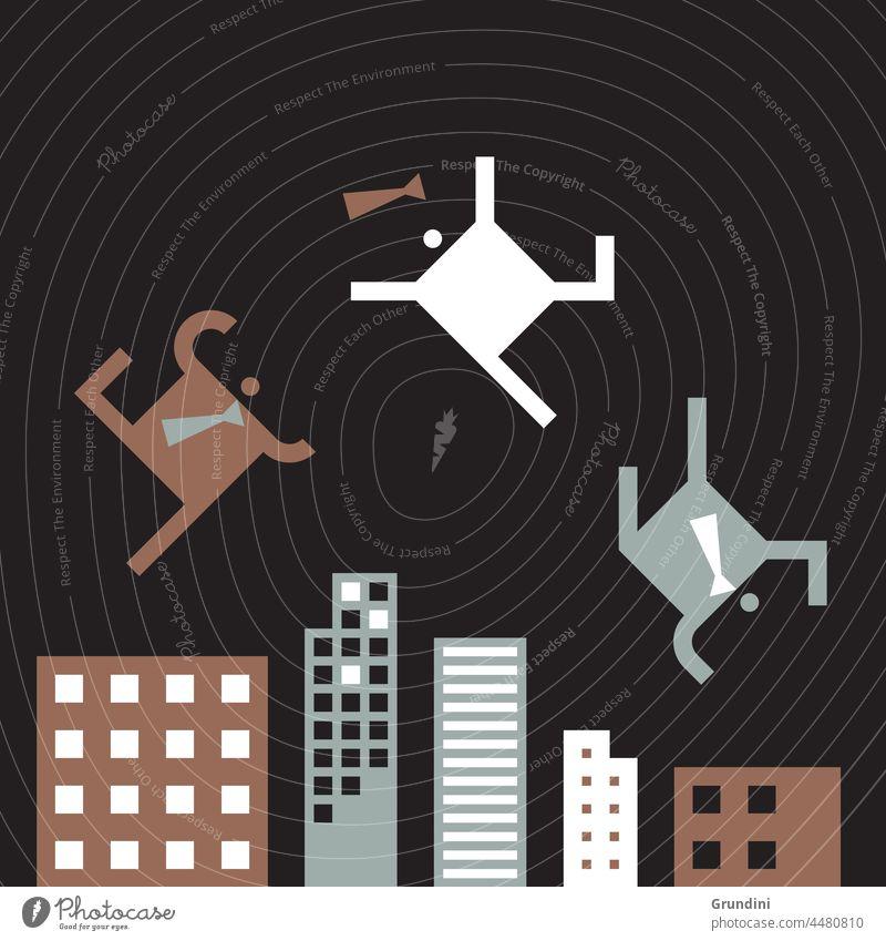 Stadtleben Arbeit Grafik u. Illustration Büro Schriftzeichen Führung Gebäude