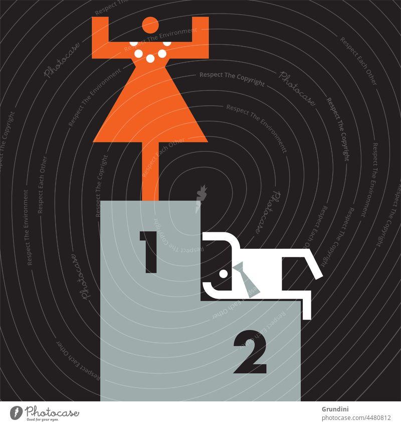 Der Gewinner Arbeit Grafik u. Illustration Büro Schriftzeichen Führung gewinnt
