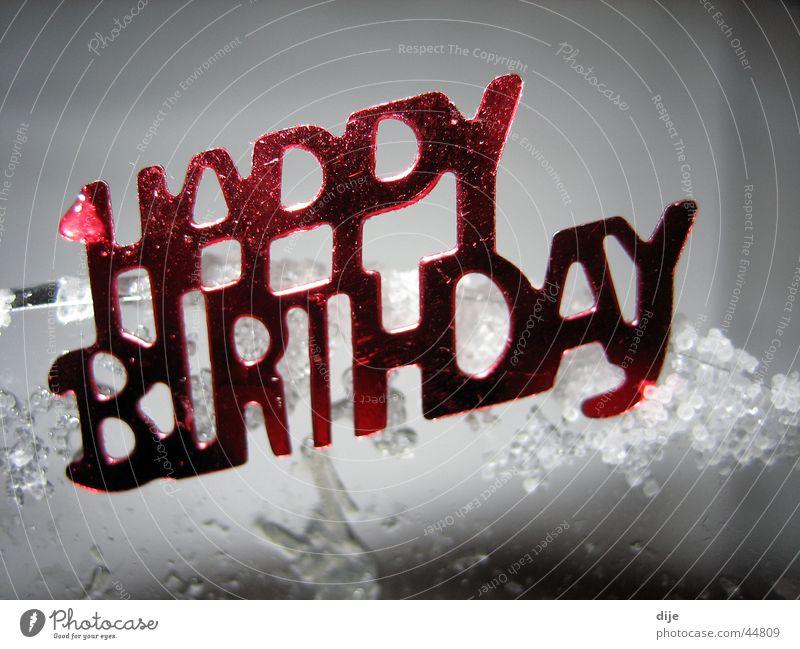 - HAPPY BIRTHDAY - alt rot Feste & Feiern Jubiläum Geburtstag Schriftzeichen gut Gruß