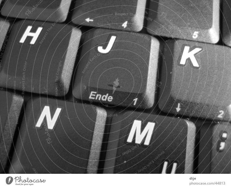 - ENDE - Buchstaben Ziffern & Zahlen Mann Ende schreiben Tastatur Business