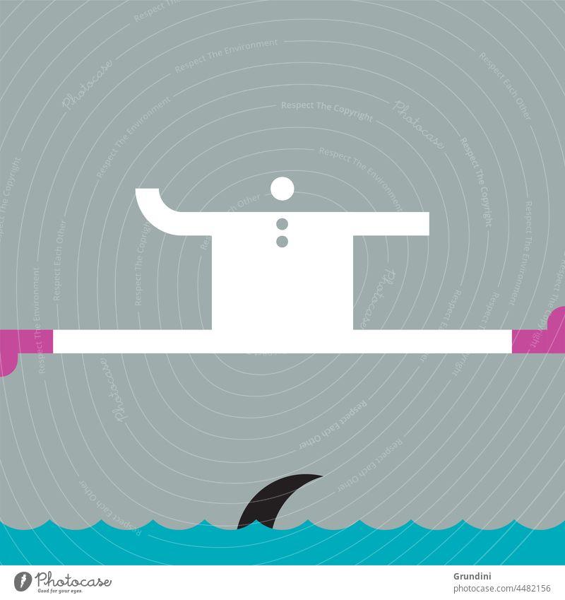 Hai! Arbeit Grafik u. Illustration Büro Schriftzeichen Führung Gewinner gewinnt Haifisch