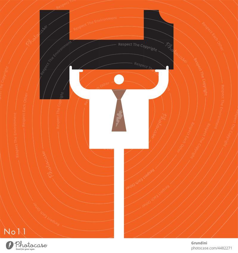 Der Gewinner Arbeit Grafik u. Illustration Büro Schriftzeichen Führung gewinnt eine Nummer1