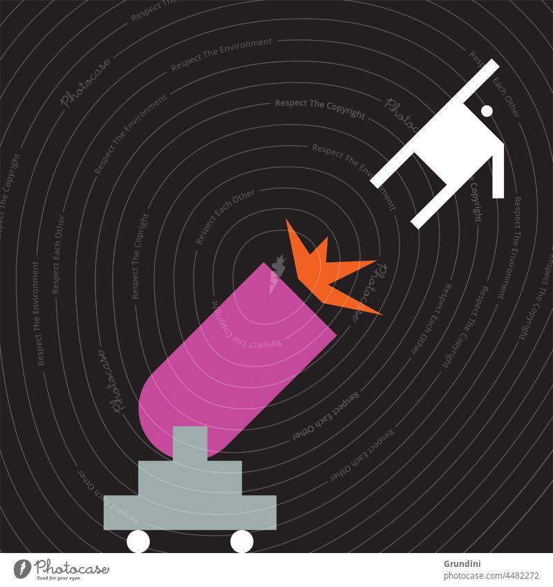 Start Arbeit Grafik u. Illustration Büro Schriftzeichen Führung Gewinner gewinnt Geschütz fliegen