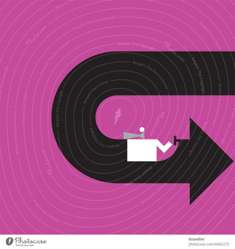 Aufwärts Arbeit Grafik u. Illustration Büro Schriftzeichen Pfeil PKW Geschwindigkeit