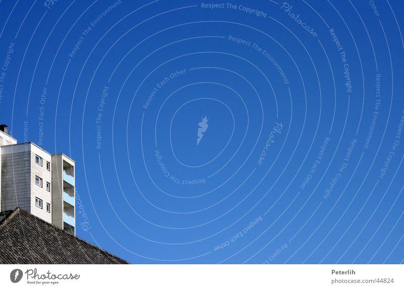 Freie Sicht Himmel blau Haus hell Architektur Balkon Münster
