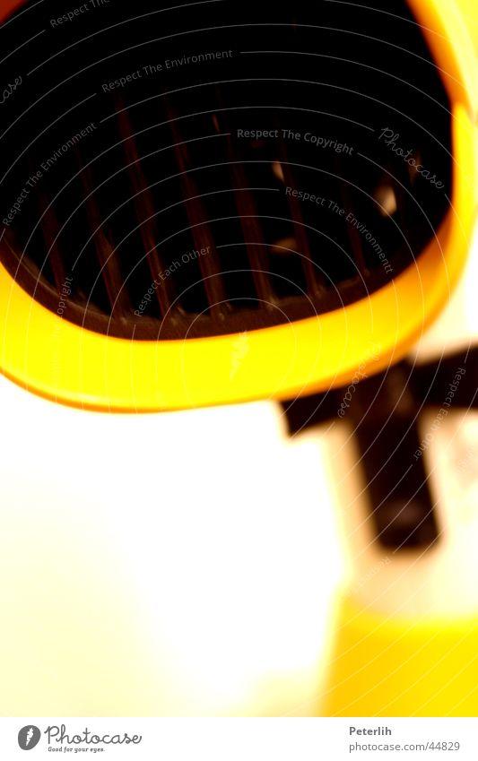 Der Fön weiß gelb Ente Entenschnabel