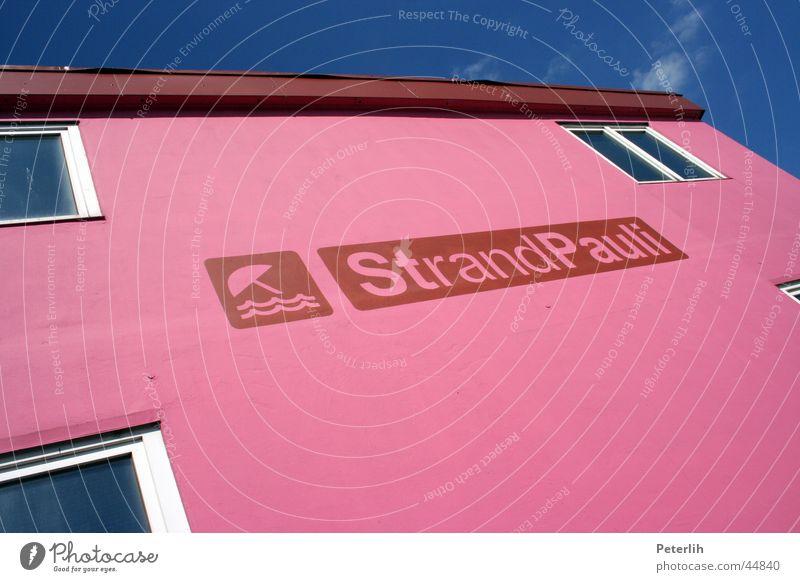 Strand Pauli Sommer rosa Erholung Club Hamburg Himmel Sonne Freude blau
