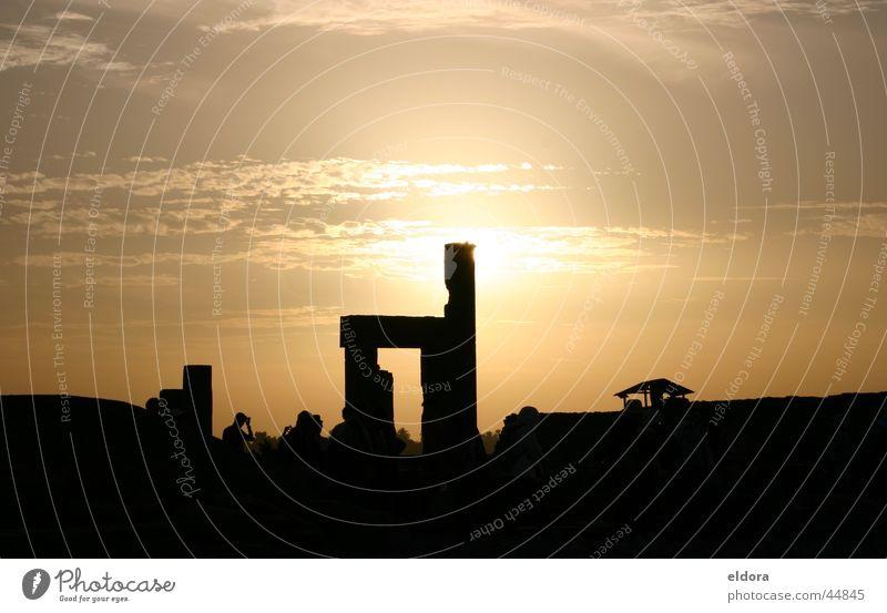 Abendsonne in Ägypten Sonne Ferien & Urlaub & Reisen Europa Romantik Bauwerk Kunstwerk Licht & Schatten