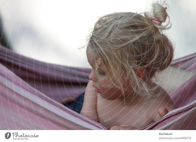 haarig | hängend Mensch Kind Natur Ferien & Urlaub & Reisen Sommer Erholung ruhig Mädchen Leben feminin Haare & Frisuren Freizeit & Hobby Lifestyle blond