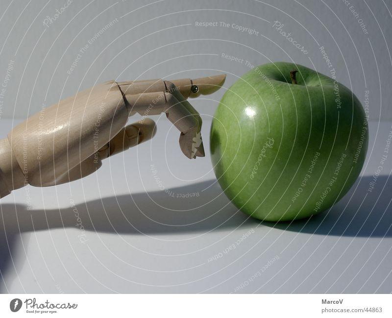 Der Apfel 4 Hand grün Ernährung Holz Frucht Paradies