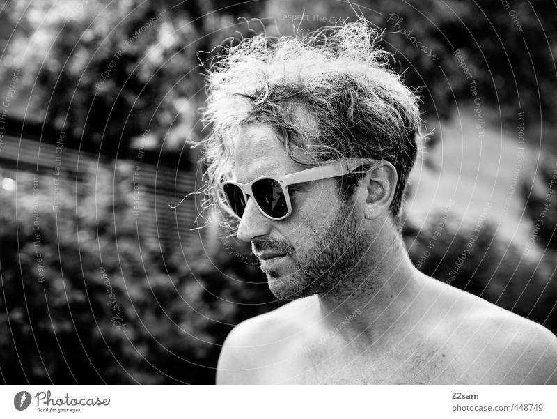 naturbursche Mensch Natur Jugendliche Ferien & Urlaub & Reisen Sommer Baum Erholung Junger Mann Freiheit Denken Stil maskulin blond Lifestyle authentisch