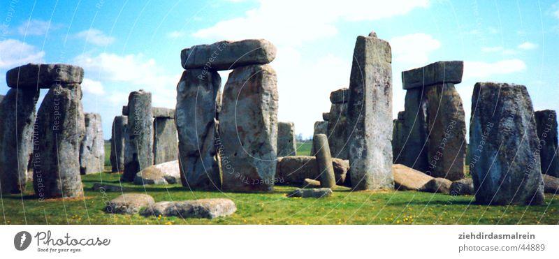 stonehenge Panorama (Aussicht) Stonehenge England Architektur Stein Natur Himmel sättigung groß Panorama (Bildformat)