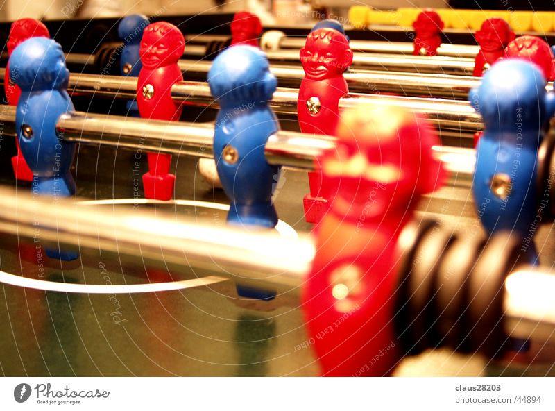 Kickerteufel blau rot Sport Fußball Dynamik Tischfußball