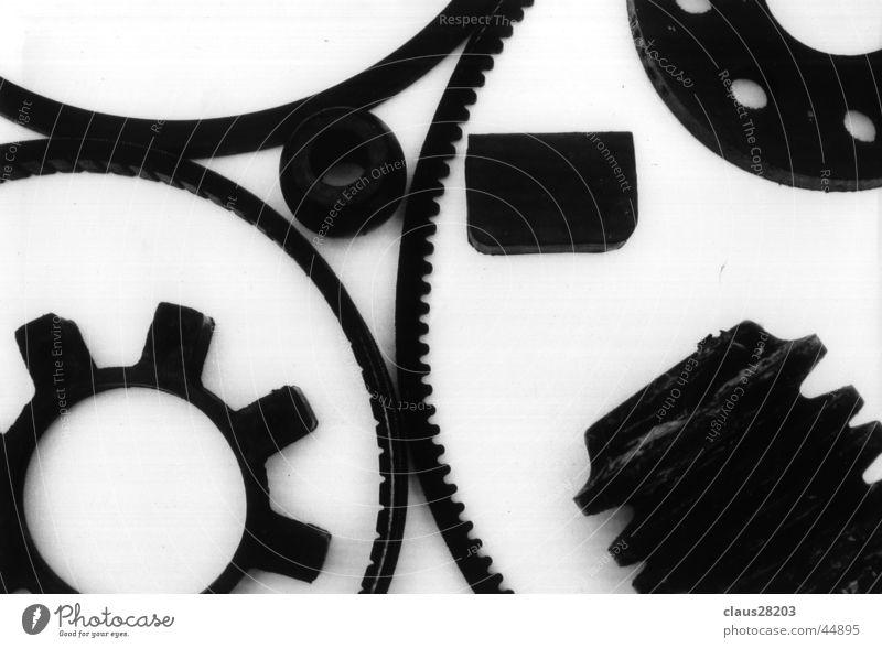 Maschine Licht Makroaufnahme Nahaufnahme Schatten Schwarzweißfoto Technik & Technologie Bewegung Zahnrad