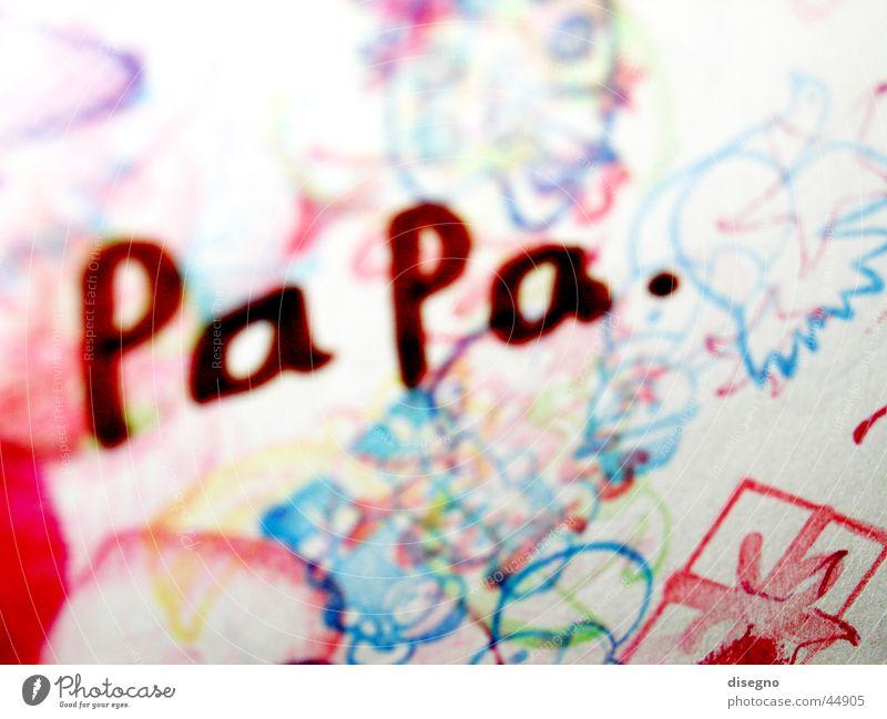 Papa Olaf Familie & Verwandtschaft Freizeit & Hobby Gemälde Vater Stempel Zeichnung Vatertag Kinderzeichnung
