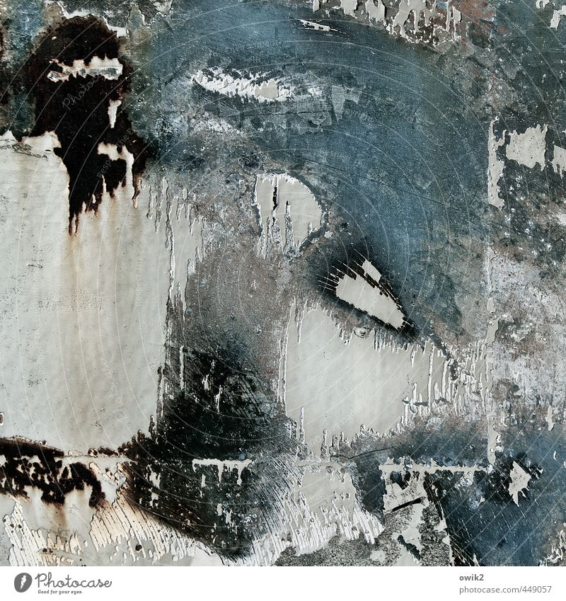 Trash Metal Metall trashig Schleifspuren verfallen Zahn der Zeit Abnutzung Abrieb Farbe Spuren Kraft Materialermüdung Schrott rau Farbfoto Gedeckte Farben