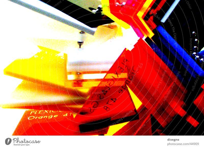 plexi überdreht Farbe Glas Technik & Technologie Kunststoff Acryl Elektrisches Gerät