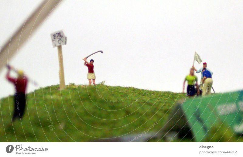 Golf Miniatur Sport Rasen Golf Golfplatz Miniatur Modellbau Golfer