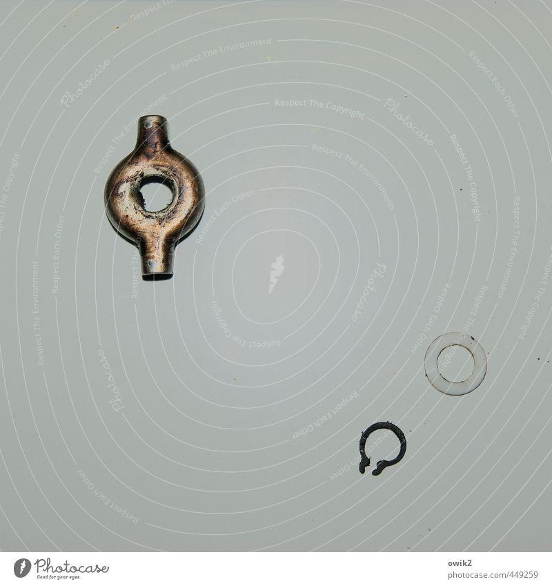 Bilderrätsel Technik & Technologie Ring Metall Kunststoff einfach glänzend trist Dinge Metallwaren Zubehör Teile u. Stücke Unterlegscheibe Schelle grau