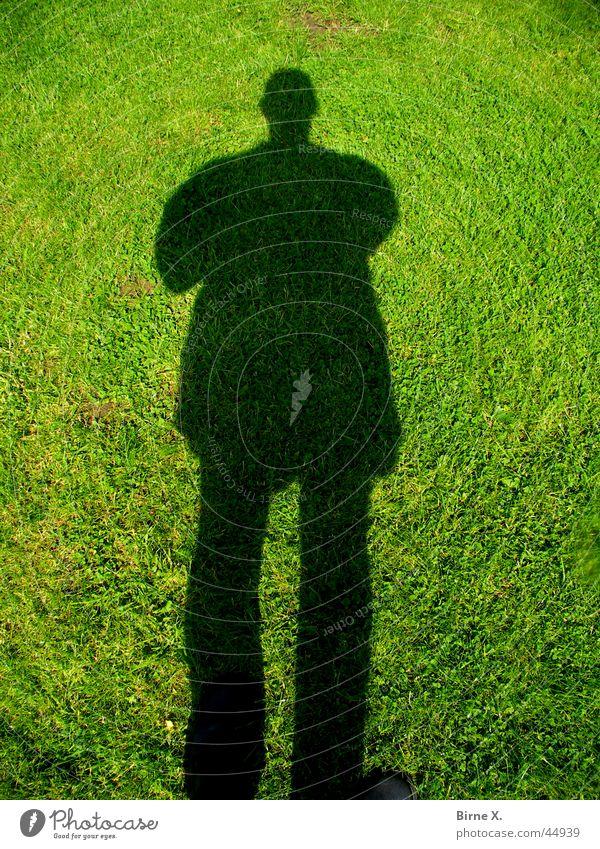 Schatten Schlagschatten Gras Mann Silhouette Wiese Rasen Dunkelmann