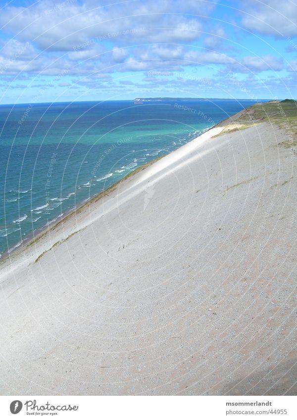 Düne Meer Halbinsel Michigan Wolken Ferne Stranddüne Wasser Sand Insel Küste