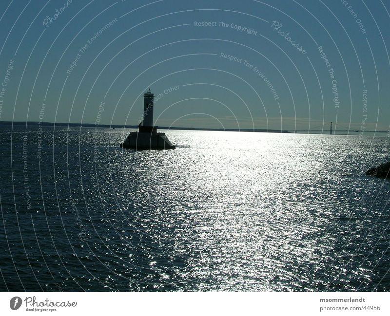 Leuchtturm Meer Einsamkeit Horizont Brücke Schifffahrt Halbinsel Michigan Peninsula de Zapata