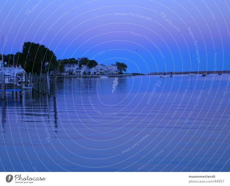 Morgenstimmung See Meer Michigan Peninsula de Zapata Halbinsel Steg Wasserfahrzeug Morgendämmerung Bucht Hafen Mackinac
