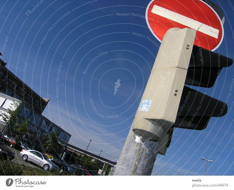 no-entry Einbahnstraße Verkehr rot Braunschweig Schilder & Markierungen PKW Straße Himmel blau