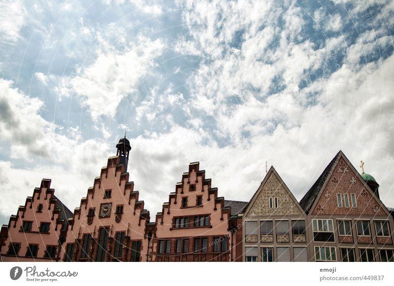 Pappmaché Himmel Stadt Stadtzentrum Altstadt Skyline Haus Gebäude Architektur Dach alt Frankfurt am Main Farbfoto Außenaufnahme Menschenleer Textfreiraum oben