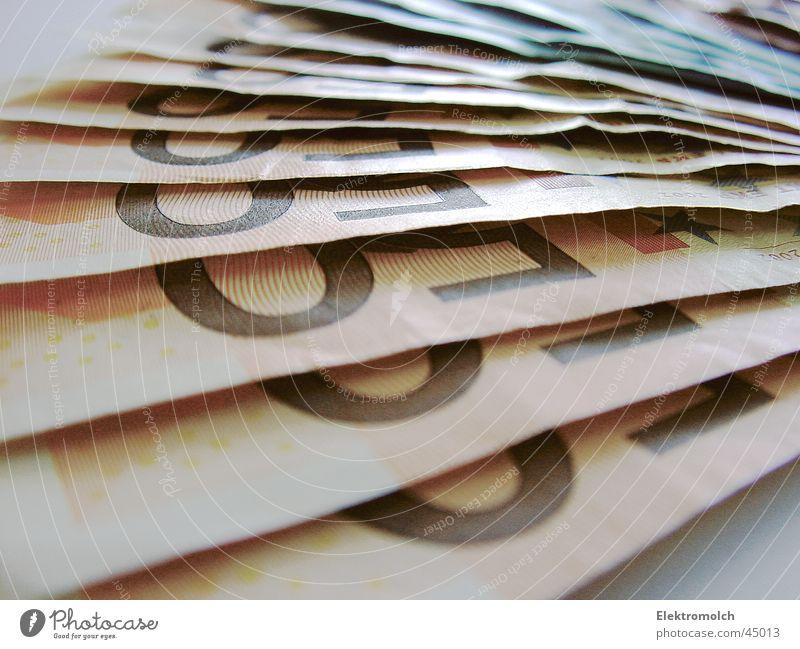 CA$H Business Papier Geld viele Reichtum Euro sparen Anhäufung reich Geldscheine 50 Kapitalwirtschaft Bildausschnitt Anschnitt Haufen ansammeln