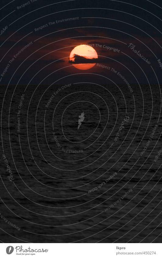 Himmel Ferien & Urlaub & Reisen blau weiß Meer rot Erholung Wolken Strand schwarz gelb Küste Linie Wellen Tourismus Insel