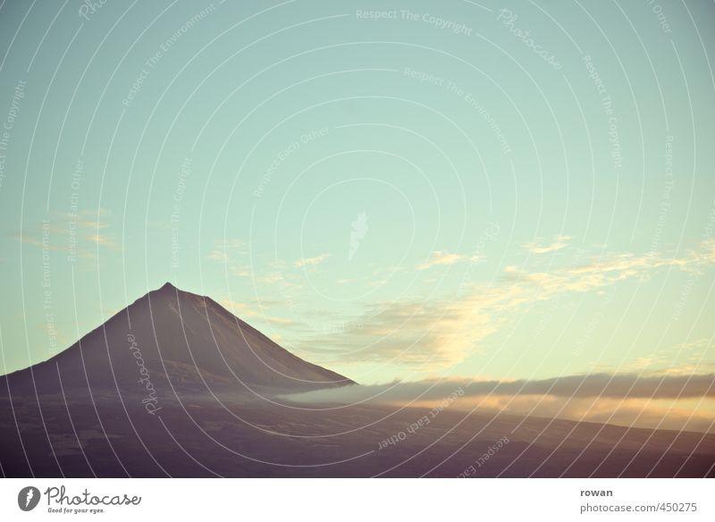 pico Umwelt Natur Landschaft Himmel Klima Hügel Felsen Berge u. Gebirge Gipfel schön Abenddämmerung wandern Bergsteigen Pico Azoren Farbfoto Außenaufnahme