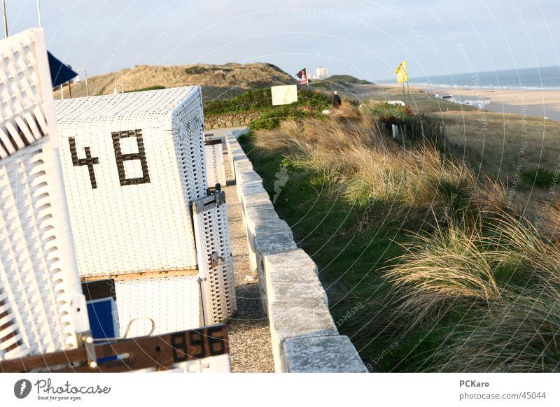 Strandkorb-Geflüster Wasser Meer Ferien & Urlaub & Reisen Wolken Wiese Gras Wege & Pfade Sand Spaziergang Stranddüne Sylt Stroh Rauschen