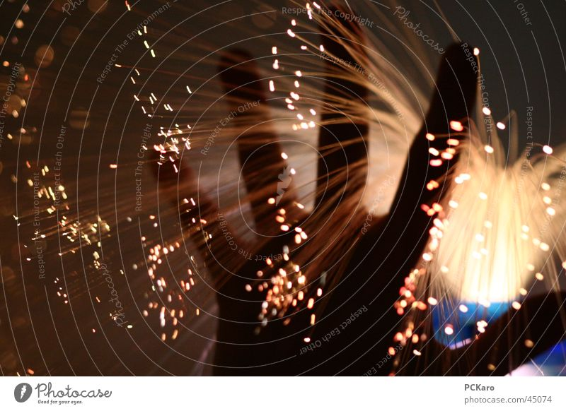 Zauberhand Hand Feuerwerk obskur Brunnen Springbrunnen Wasserfontäne